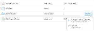 Dropbox dossier