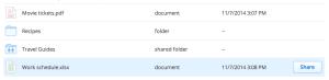 dropbox fichier